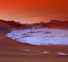 Martian red landscape at Valle de la Luna, Chile by Camila Gelber