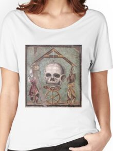Memento Mori mosaic from Pompeii Women's Relaxed Fit T-Shirt