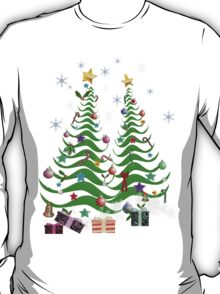 Artsy Christmas Tree and Decorations-2 T-Shirt