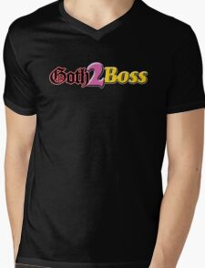 Goth 2 Boss Mens V-Neck T-Shirt