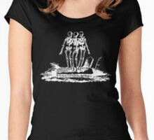 Dance of the Skeletons Women's Fitted Scoop T-Shirt
