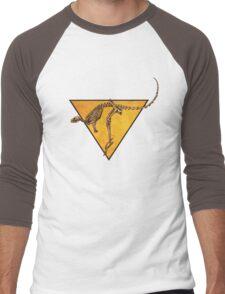Kangaroo Skeleton Roadsign Men's Baseball ¾ T-Shirt