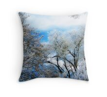 Frozen Trees 2 Throw Pillow
