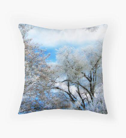Frozen Trees 2 Throw Pillow