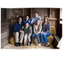 Family Portrait in the Barn Poster