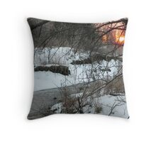 Sunset on Snowy River Throw Pillow