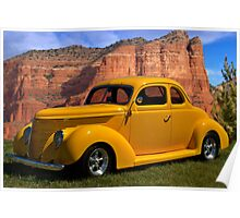 1938 Ford Custom Coupe Poster