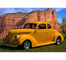 1938 Ford Custom Coupe Photographic Print