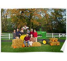 Family Portrait on the Farm Poster