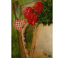 Red Tulips in Enamel jug Photographic Print