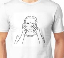 Man with a phone Unisex T-Shirt