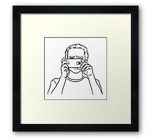 Man with a phone Framed Print