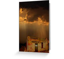 Charlie's Radiator Service, Milan, New Mexico Greeting Card