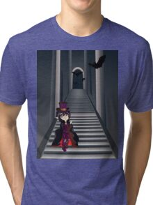 Gothic Stairs and Witch 4 Tri-blend T-Shirt
