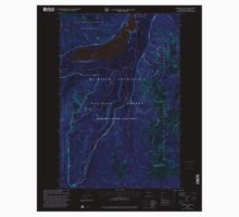 USGS Topo Map Washington State WA Bumping Lake 240269 2000 24000 Inverted One Piece - Long Sleeve