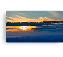 Melbourne View from Mt Dandenong  Canvas Print