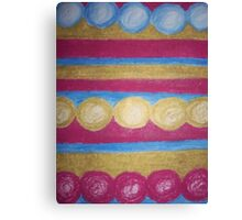 Beads in pastel Canvas Print