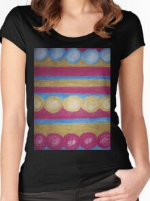 Beads in pastel Women's Fitted Scoop T-Shirt
