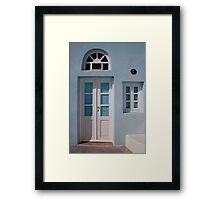 Shuttered Door And Window Framed Print