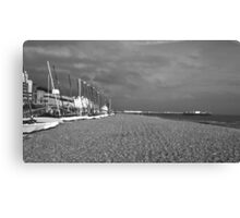 Boats by Brighton Beach Canvas Print