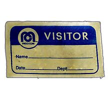 Mego Visitor Badge Photographic Print