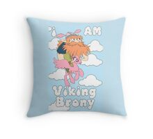 Viking Brony Throw Pillow