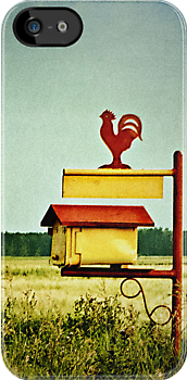 Rooster Drop iPhone Case by Keri Harrish