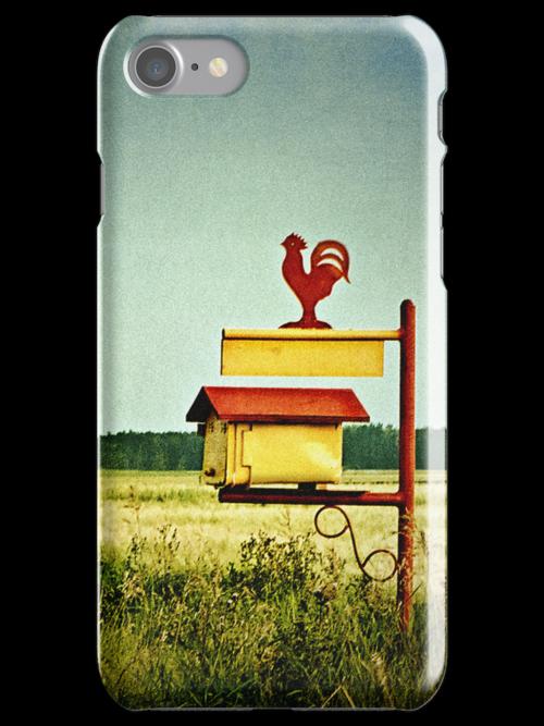 Rooster Drop iPhone Case by Keri Harrish