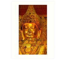 the golden Buddha Art Print
