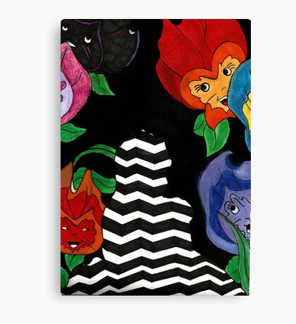 Alice and the Flowers Canvas Print