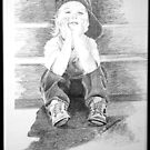 Commissioned Portrait of a Young Boy by deborah zaragoza