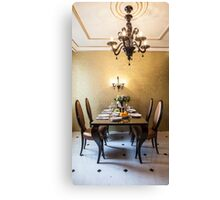 dining room interior Canvas Print