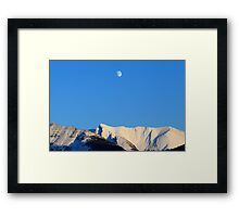 Moon over Rockies Framed Print