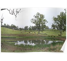 Maroon Landscape Poster