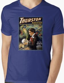Thurston the great magician 1915 Vintage Poster Mens V-Neck T-Shirt