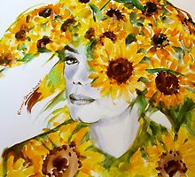 Sunflower in sunflowers by HitomiOsanai