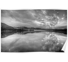 Black and White Melody - Narrabeen Lakes,Sydney Australia - The HDR Experience Poster