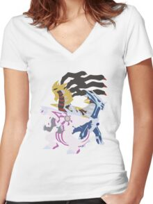 Creation Trio Women's Fitted V-Neck T-Shirt
