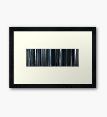 Moviebarcode: Mother (2009) Framed Print