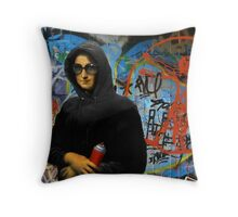 Mona L aka Foxy Lisa Throw Pillow