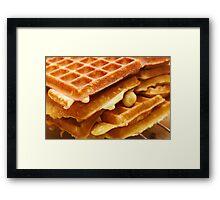 Baking Brussels Waffles Framed Print