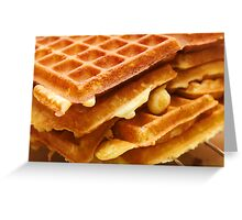Baking Brussels Waffles Greeting Card