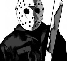 Jason Friday the 13th Horror Movie Art by Sarah Zinkann