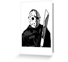 Jason Friday the 13th Horror Movie Art Greeting Card