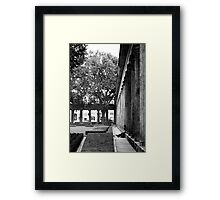 Sit a while ... Framed Print