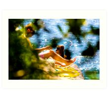 RELAXING ON THE ROCKS Art Print
