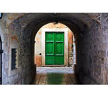 Green Door Photographic Print