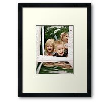 Reflections of laughter Framed Print