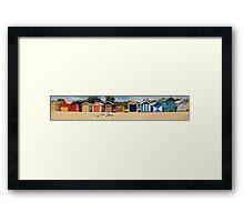 Bathing Boxes, Panorama Framed Print