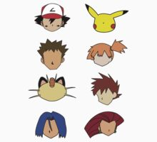 Simple Pokemon Main Characters by mikeback